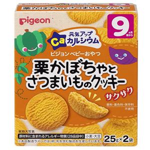 Pigeon贝亲 栗子红薯南瓜饼干 2袋*12个