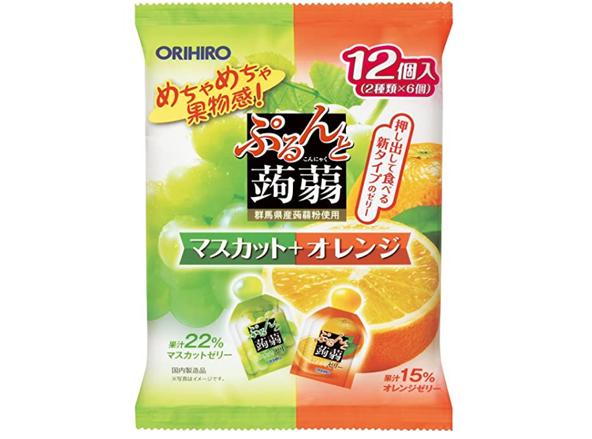 ORIHIRO立喜乐 果汁蒟蒻果冻 12个*6袋