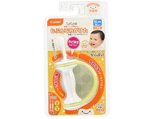 Combi康贝 teteo手柄软刷头儿童训练牙刷 10-36月宝宝牙刷带手柄