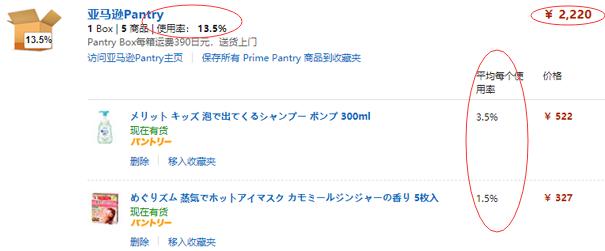 日本亚马逊橙盒パントリー计划详解