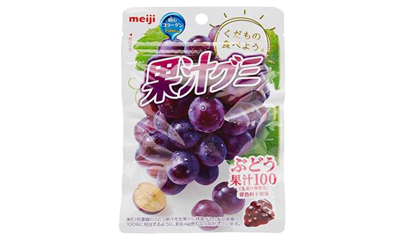 Meiji明治 果汁软糖51g×10袋 葡萄味