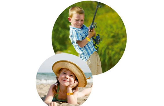 BUGLOCK儿童笑脸驱蚊手环+6个替换片 粉色