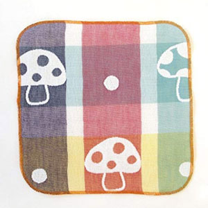 Hoppetta 六层纱布蘑菇面巾手帕婴儿口水巾