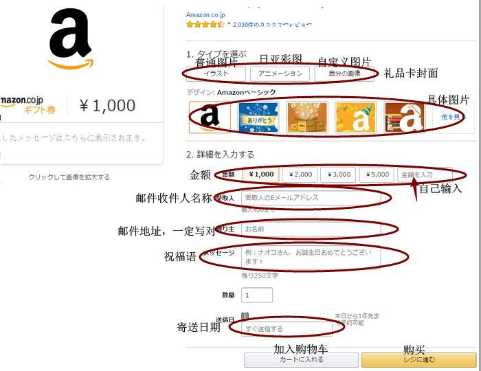 如何在日本亚马逊购买礼品卡