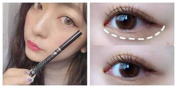 """日本女生中超流行的""""眼妆整形术""""眼影+眼线"""