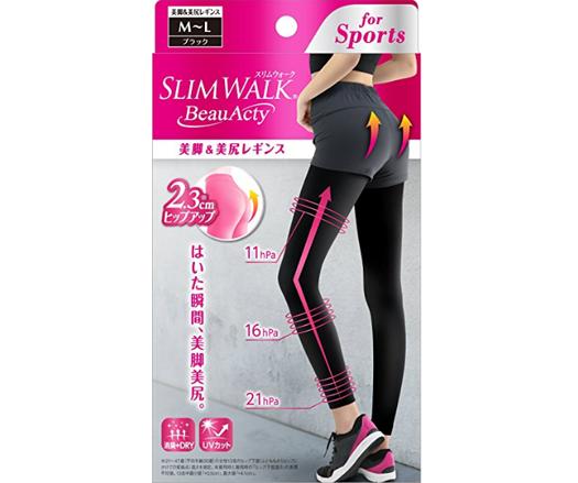 Slim Walk 压力瘦腿美腿裤袜 运动专用塑形骨盆提臀防晒