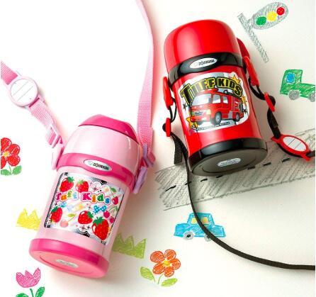 Zojirushi象印SC-ZT45-PA儿童保温杯 两用杯 450ml