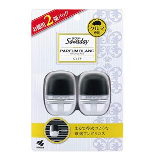 小林制药swaday 汽车除臭芳香剂 夹子型 6ml ×2包 两款可选