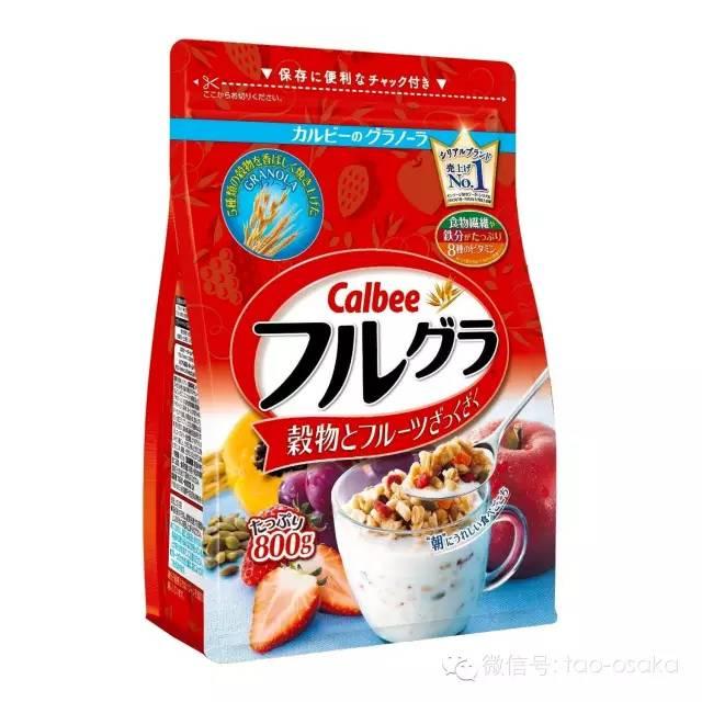 日本Calbee卡乐比水果颗粒果仁谷物麦片使用说明