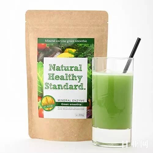 日本Natural healthy standard酵素青汁代餐粉 芒果味使用说明