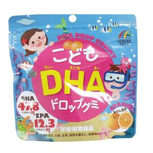 unmiat 儿童DHA 护眼EPA鱼油软糖 橘子味