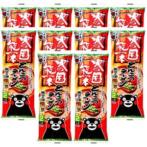 五木食品 火之国熊本 黑麻油猪骨拉面250g*10袋