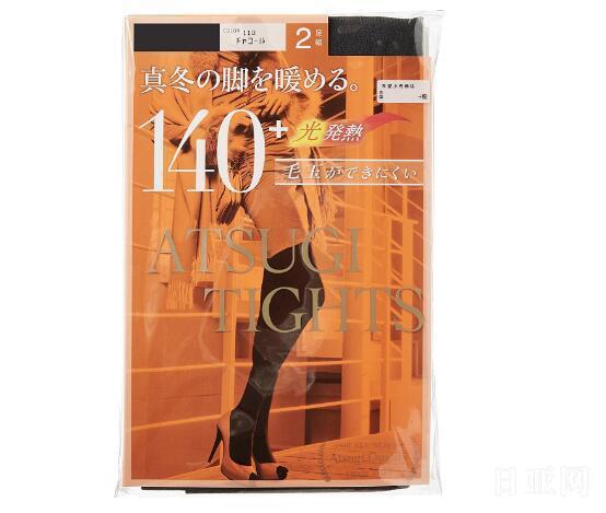 ATSUGI厚木 140D紧身连裤袜 2双装*2袋 黑色
