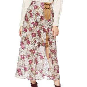 Lily Brown 印花蕾丝裙 LWFS204006