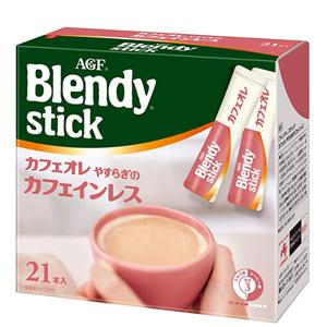 AGF Blendy 欧蕾牛奶风味速溶咖啡 低咖啡因 21条